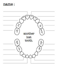 TOOTH FAIRY LOST TOOTH CHART :: free printable::Oh