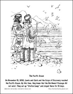 Lewis and clark, Worksheets and Coloring pages on Pinterest