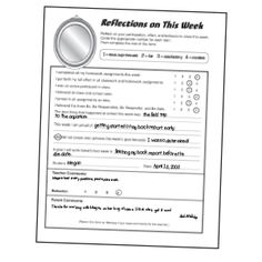 1000+ images about Behavior reflection on Pinterest