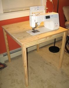 DIY Sewing Table Pla