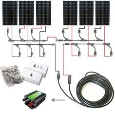 MC4 T Branch Connector Solar Panel Parallel Wiring Diagram
