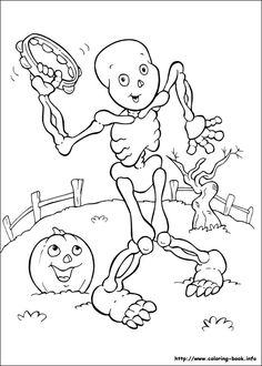 Letter M coloring page (Monkey, Moose, Mouse, Marbles
