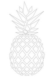 pineapple template drawing pattern ananas printable stencil outline silhouette coloring apple templates print easy cute geometric patterns clipart pages stencils