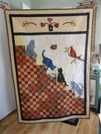 quilt pattern cats | this is my stairway to cat heaven ...