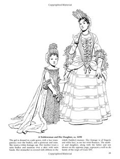 Godey's Fashions Coloring Book Dover Publications
