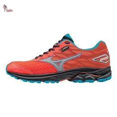mizuno pour femme wave rider gore tex chaussures de course a pied rose