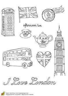 Coloriage sur la culture britannique dans mon coin pour