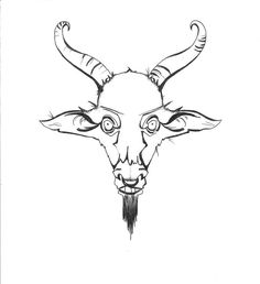 Ram Head or mountain goat line art Sheep vector animal