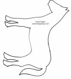 Party craft: stick horses. Here is a horse head template