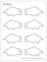 Bat wing pattern. Use the printable outline for crafts