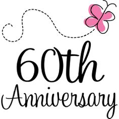 Lots of 60th wedding anniversary decorations and ideas to