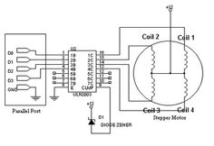 Stepper motor controller circuit diagram using IC's IC
