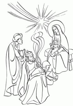 Simple Wise Men Bible Verse Coloring Page. Use this with