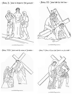 Coloring page for the First Station of the Cross: Jesus is