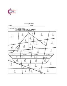 Area with squares and rectangles Common Core Math