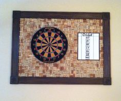Diy Dart Board Surround Made From Wine Corks For Those