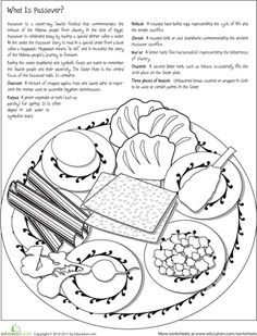 Jewish Seder Plate cut and stick activity (SB3278