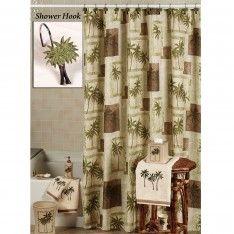 Palm Tree Shower Curtain Hooks Bathroom Pinterest Trees