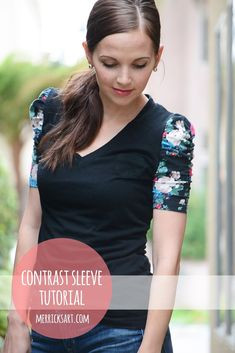 Contrasting Sleeve T