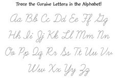 Uppercase & Lowercase Cursive Alphabet Charts with Arrows
