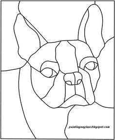 Corgi pattern free sample from Stained Glass Patterns by