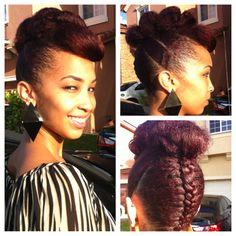 Elegant Formal Updo For Natural Hair Goddess Braids Pinterest