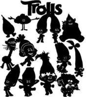 trolls svg cuttable layered design