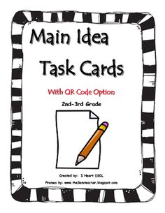 main topic/main idea passage matching game- identifying