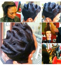 Finger Waves For Short Hair Cute Hairstyles Pinterest