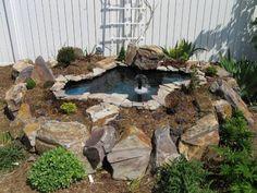 Pond In A Raised Bed Small Garden Ponds Pinterest Gardens