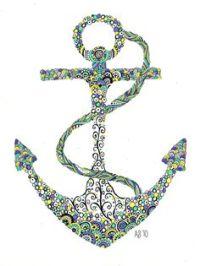 Anchor drawing | Artwork | Pinterest | Anchor Drawings ...