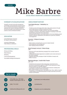 1000 Images About In Need Of RESUME EXAMPLES On Pinterest
