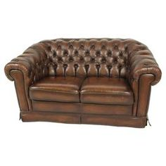 vine brown leather tufted sofa beds online uk american antique carved couch loveseat ...