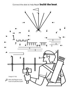 LDS family history and temple maze coloring activity page