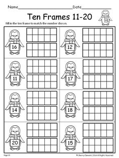 Teen numbers, Worksheets and Numbers on Pinterest