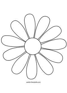 Flower Daisy 8 petal template by @BAJ, A flower that could