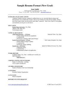 Nursing Resume New Grad Template Nurse Cv Template Download