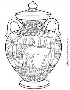 Ancient greece, Coloring pages and Coloring on Pinterest
