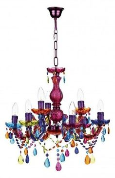 Large Multi Coloured Glass Chandelier Light Ing Hp025256 Kitchen Home
