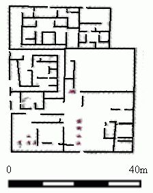 Floor plan of an upper class home at Amarna- Ancient Egypt
