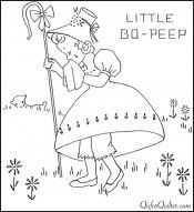 RARE 1930's Vintage Mother Goose Nursery Rhyme Embroidery