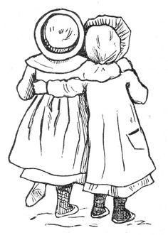 baby clip art, black and white clipart, vintage children