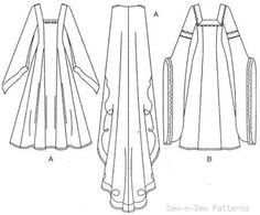 Details about Simplicity 9887 SEWING PATTERN Medieval