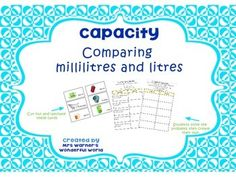 Milliliter Liter Worksheet