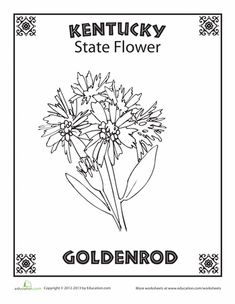 USA-Printables: State of Kentucky Coloring Pages