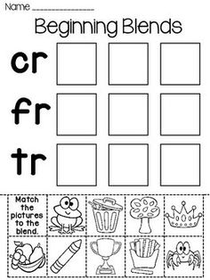 Consonant blends, Worksheets and Student on Pinterest
