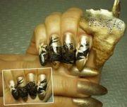 safari inspired nail art south