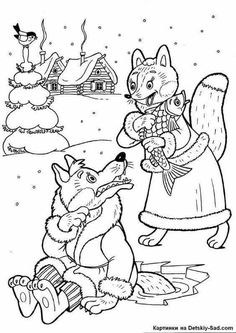 Best-Loved AESOP'S FABLES The Fox and The Stork Coloring
