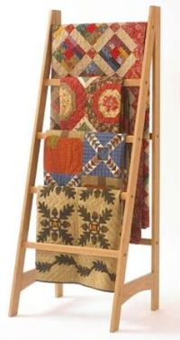 Quilt Ladder Racks Woodworking Plans - WoodWorking ...