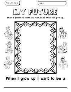 When I Grow Up Coloring Sheets Coloring Pages